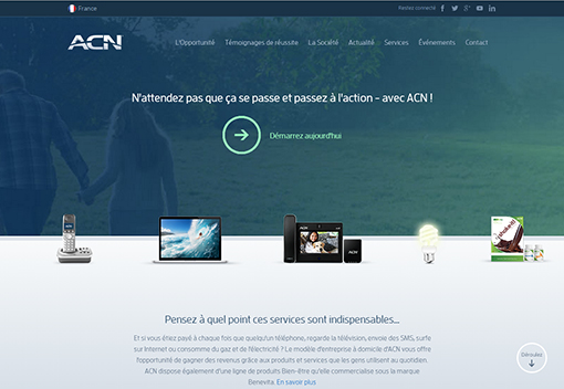 Le nouveau site Internet ACN Europe